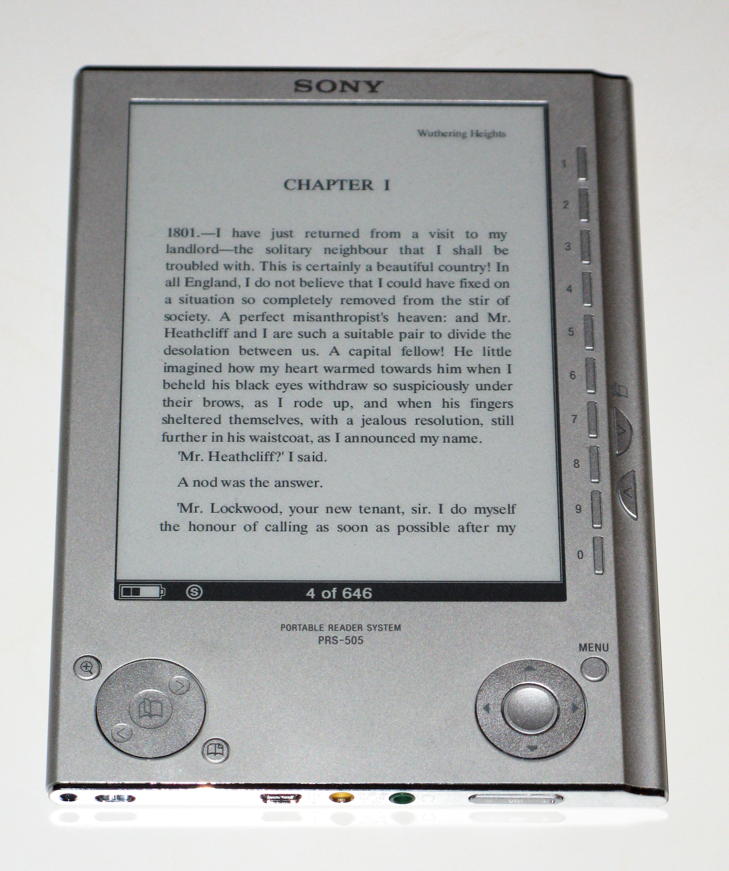 Sony PRS-505 ebook reader